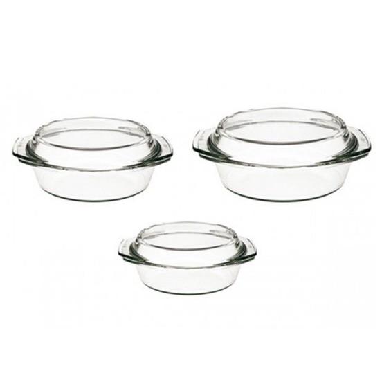סט 3 סירים זכוכית