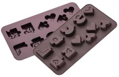 תבנית סיליקון לשוקולד/ קרח לבבות