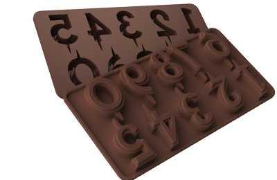 תבנית סיליקון לשוקולד/ קרח מספרים