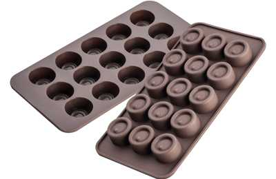 תבנית סיליקון לשוקולד/ קרח עגול