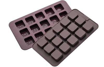 תבנית סיליקון לשוקולד/ קרח מרובע