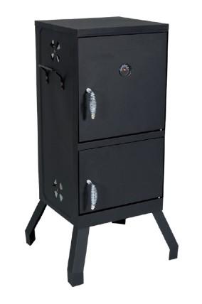 מעשנת עץ מלבנית שחורה