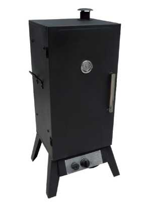 מעשנת גז מלבנית שחורה